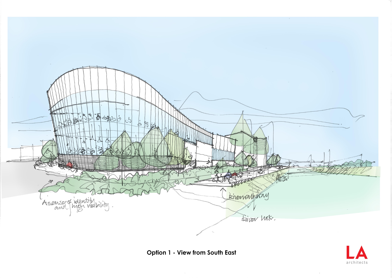 Newport Centre Leisure Consultation Sketch